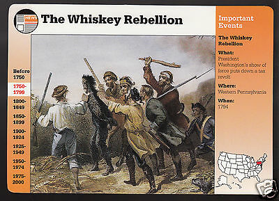 THE WHISKEY REBELLION 1794 Tax Revolt 1994 GROLIER STORY OF AMERICA CARD