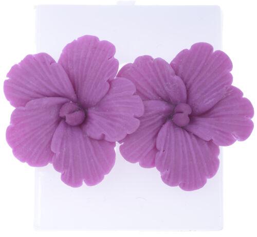Filigraner Tiki FRANGIPANI Flower BLÜTEN Ohrstecker Ohrschmuck Rockabilly