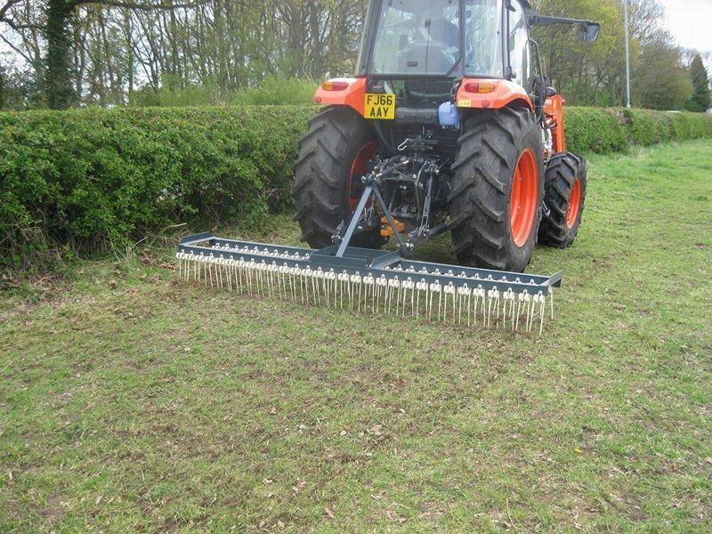 Agri-fabs 6ft 3pl spring tine harrow. Chain harrow, Tractor. Equestrian