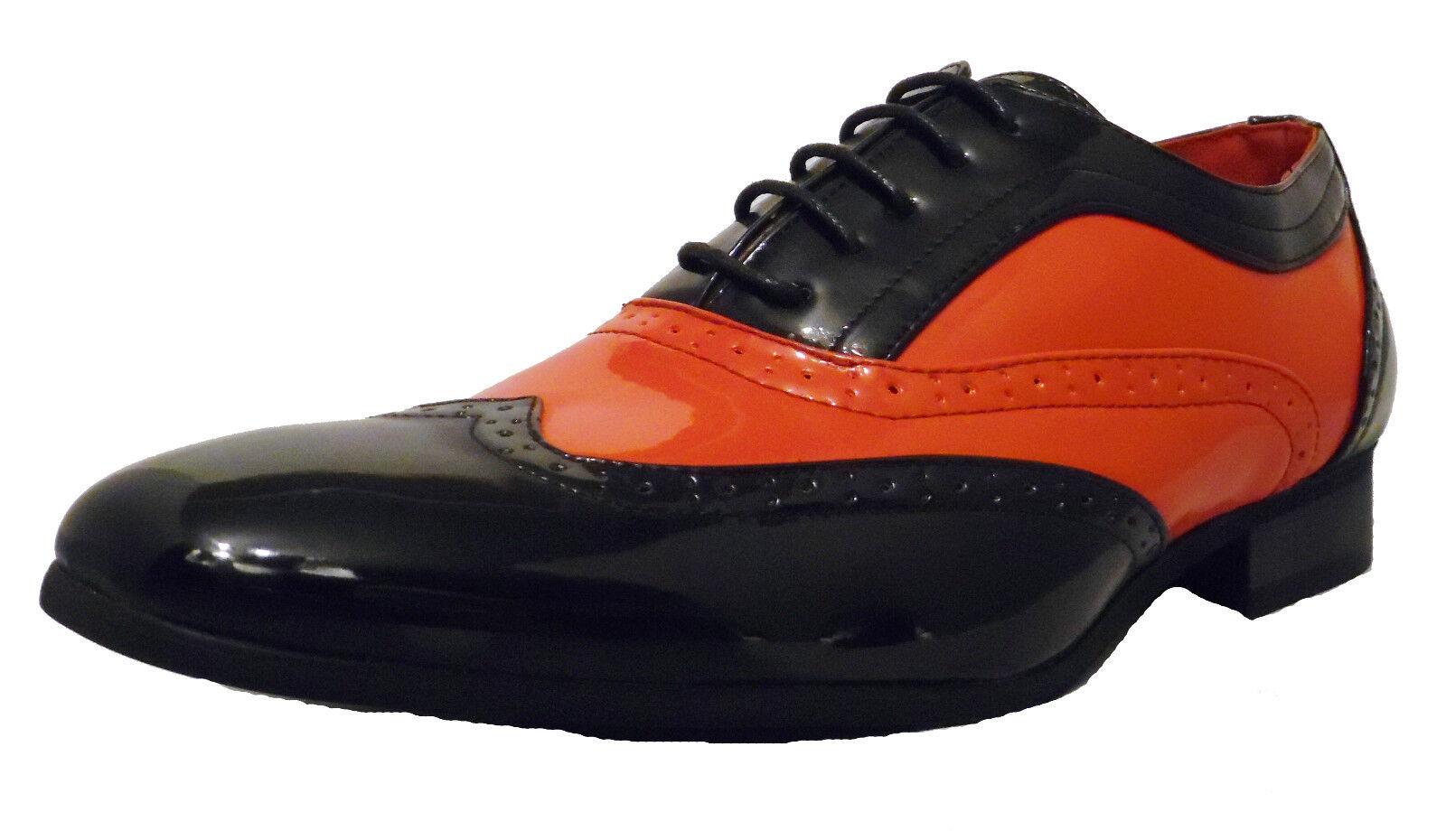 Herren Einlage schwarz und rot Borsalino Leder Einlage Herren Patent Förmlich Hochzeit Schuhe 3bd661