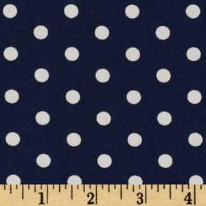 Fabric Nautical Anchors White Seawater Friends on Navy Cotton By The 1//4 yd BIN