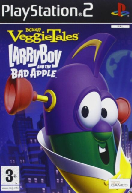 VEGGIETALES LARRY BOY ANE THE BAD APPLE per Playstation 2, nuovo