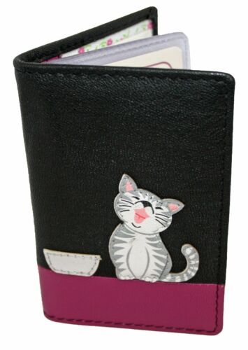 Mala Leather Small  ID//Card Holder Style Ziggy Cat 62999 Colour Various New