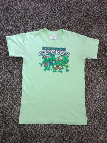 hawaiian Ninja Geckos Vintage Kids Size Large shir