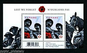 Canada-034-MILITARY-LEST-WE-FORGET-034-MNH-MS-Mini-Sheet-2009