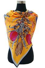 elegantes Seidentuch aus 16 Momme schwerer Seide-Satin, 110x110cm