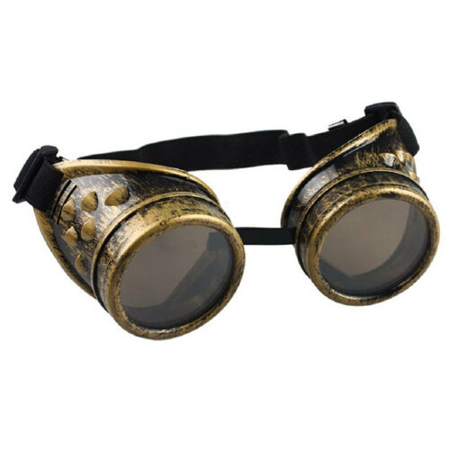 Vintage Victorian Steampunk Goggles Glasses Welding Cyber Punk Gothic Cosplay US