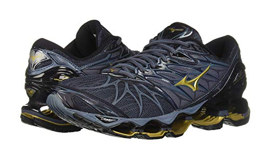 Mizuno's Mens Wave Prophecy 7 in nero-OMBRE blu 90RE Sz. 8-12 NEW