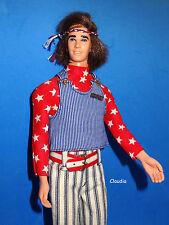 Vintage Barbie MOD HAIR KEN DOLL in RED, WHITE & WILD #1829 Near Mint Complete