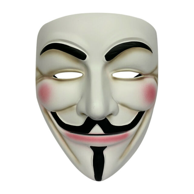 Anonymous V for Vendetta Guy Fawkes Fancy Dress Halloween Face Mask SS