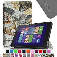 For Dell Venue 8 Pro Windows 8.1 Tri-fold Leather Case Cover Ultra Slim Stand