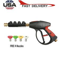 High Pressure 4000psi Car Power Washer Spray Gun Wandlance Nozzle Tips Hose Kit
