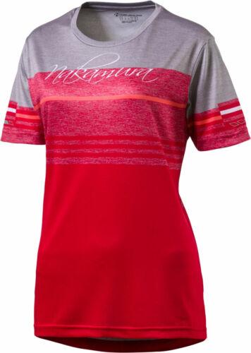 Nakamura Damen-Radsport-Bike-Fahrrad-Trikot Depressa rot-grau 4035556 165