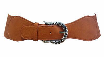 Stretch Gürtel Braun Leder Schlange Schnalle Taillengürtel Hüftgürtel GZ-1978