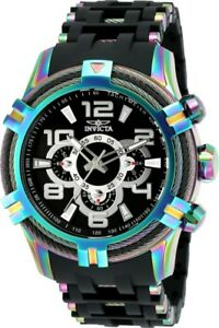 Invicta-25769-Bolt-Men-039-s-51mm-Stainless-Steel-Rainbow-Black-Dial-Watch