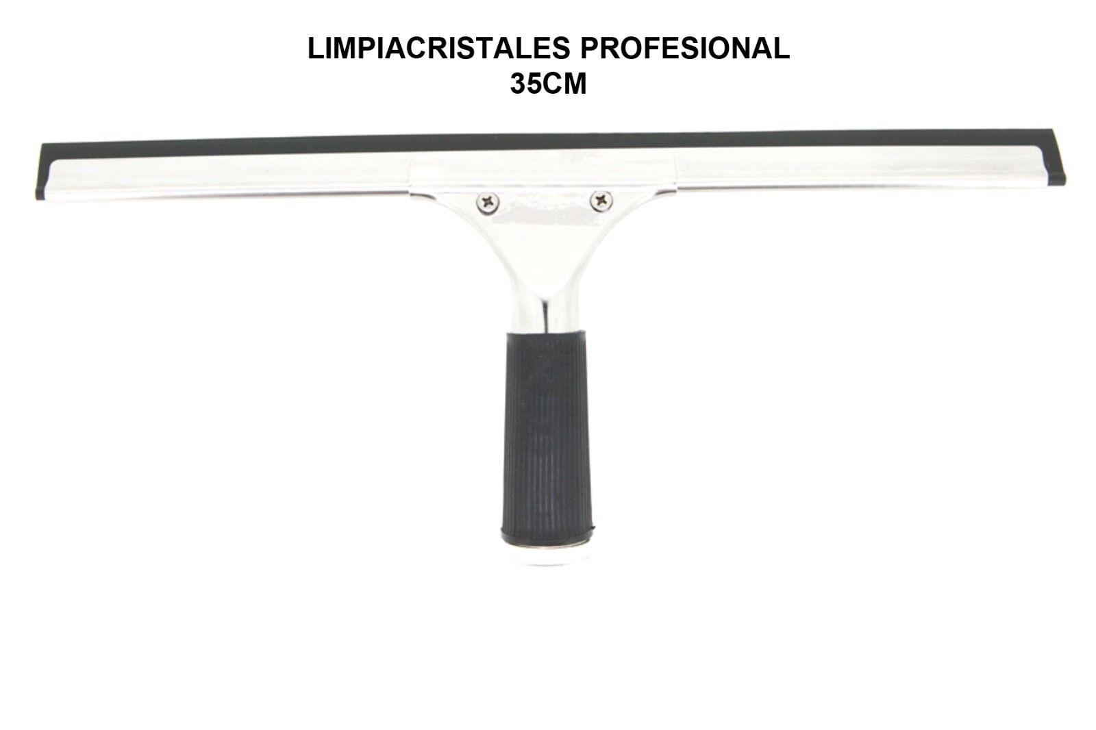 Regleta raqueta limpia vidrios - lunas - cristales profesional con soporte 35...