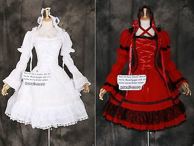 M-3315 S/M/L/XL/XXL STRETCH Gothic Lolita Classic Kleid Kostüm dress Cosplay