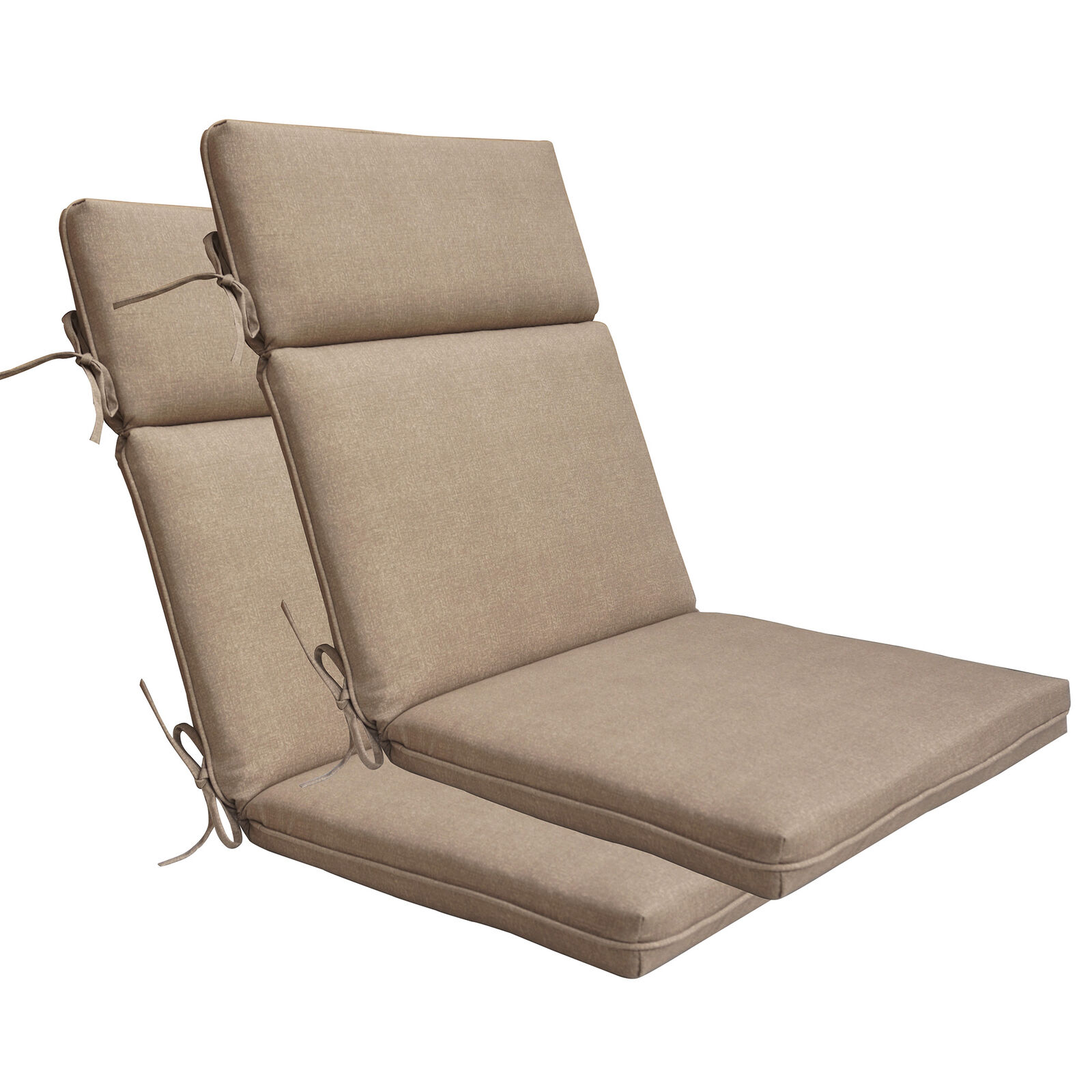 Casual Cushion High Back Chair Hinged Outdoor Cushion Set Of 2 For Sale Online Ebay