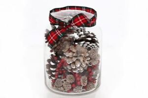 christmas potpourri decorative glass cinnamon pine fragrance tartan rh ebay co uk