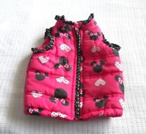 82bc63ef7458 DISNEY MINNIE MOUSE GIRL S PUFFER VEST~ PINK   BLACK ~SIZE 12 MONTHS ...