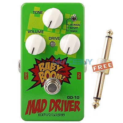 Biyang Baby Boom Guitar Effect Pedal OD-10 Tube Tone Mad Drive Overdrive JRC4558