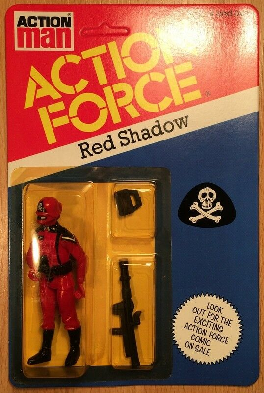 Action Force G I JOE Enemy rot Shadow Vintage 1982 MOC