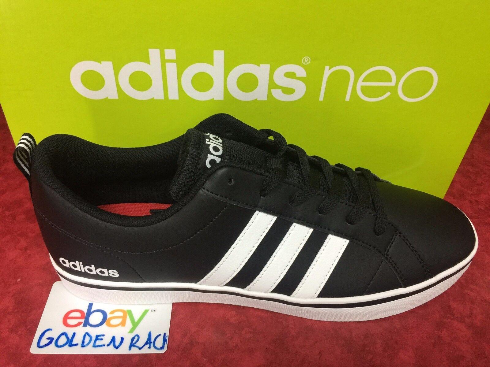 Adidas neo vs ritmo b74494 uomini neri taglia di pelle bianca, scarpe taglia neri 12 pennino 564bc8