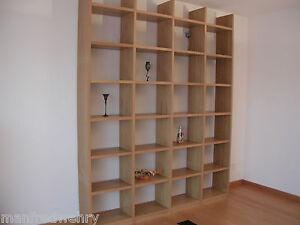 b cherregal eiche ge lt regal buche wei lackiert massiv regalwand massivholz ebay. Black Bedroom Furniture Sets. Home Design Ideas