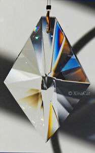 Huge-KITE-63mm-Austrian-Crystal-Clear-Prism-SunCatcher-Ornament-2-5-inches