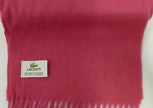 5801ed90afde LACOSTE ROSE CACHEMIRE   écharpe laine   eBay