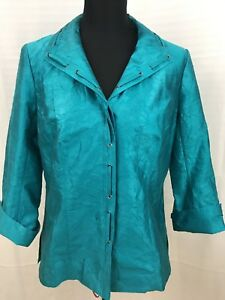 Classiques Medium Sleeves 3 Button Entier taglia Jacket Turquoise 4 Down SgwSrCq