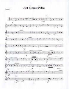 Just Because Polka Brass Quintet Oktoberfest Sheet Music ...