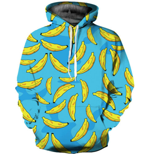 Unisex Hoodie Banana 3D Printing Sweater Sweatshirt Jacket Coat Pullover Tops
