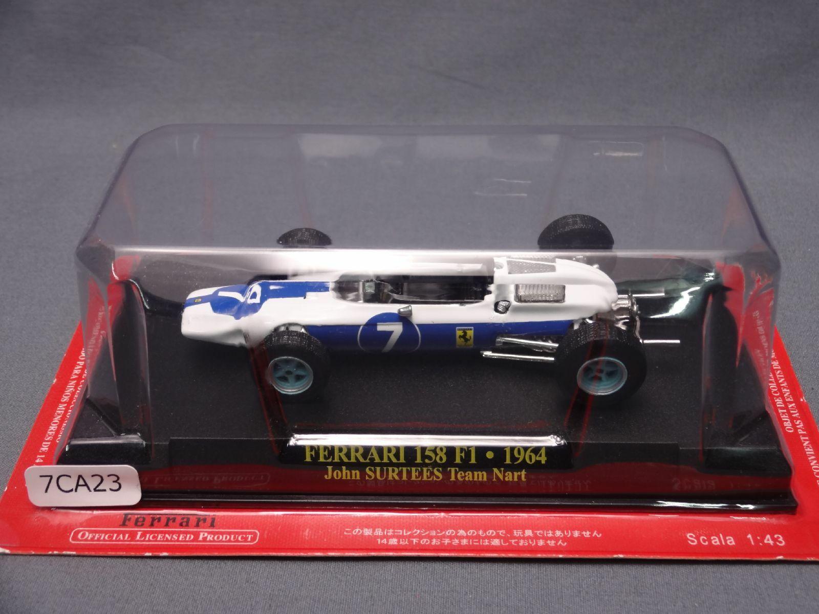 Scala 1//43 DELLA FORMULA UNO Auto FERRARI 158 F1-1964-JOHN SURTEES Team Nart F1