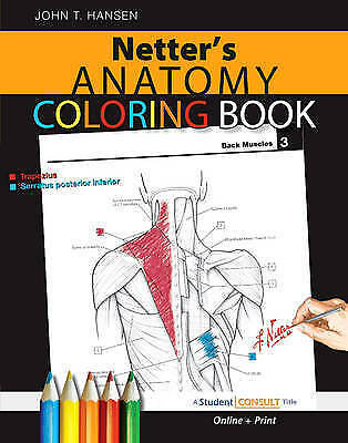 1 of 1 - Netter's Anatomy Coloring Book by John T. Hansen (Mixed media product, 2009)