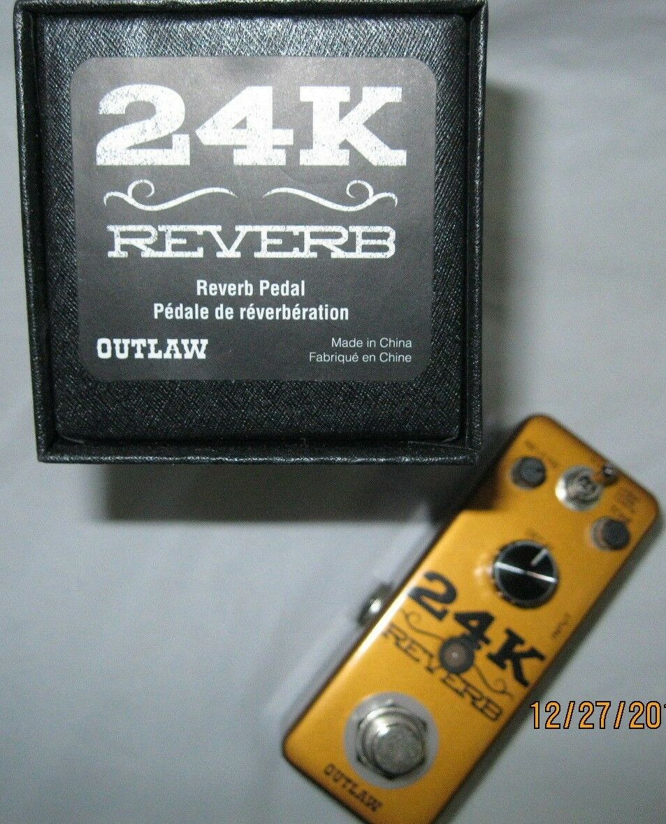 24 K outlaw reverb electric guitar pedal outlaw 24k pedal reverb pedal outlaw