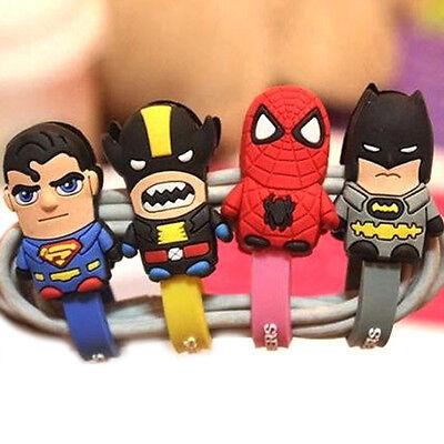 SUPER HERO CABLE WINDER / Computer Earphone iPhone iPod Cord Holder Organiser