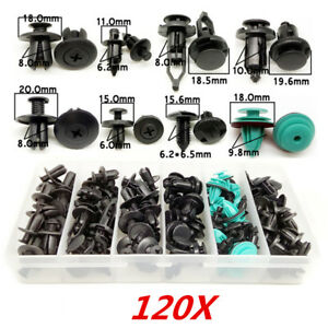 120x-Auto-Befestigung-Clips-Stossstange-Tuerverkleidung-Innen-Niete-6-10mm-Clips