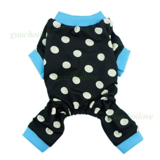 "Fitwarm 12""Chest Polka Dots Dog Clothes Xsmal Pet Shirt Puppy Pajamas Jumpsuit"