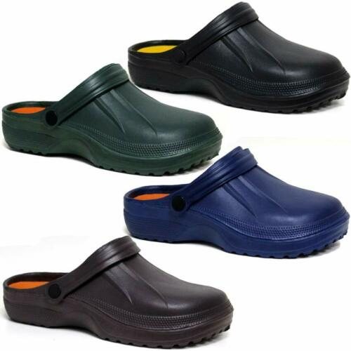 Mens Clogs Mules Slipper Nursing Garden Beach Sandals Hospital Rubber Pool Shoes