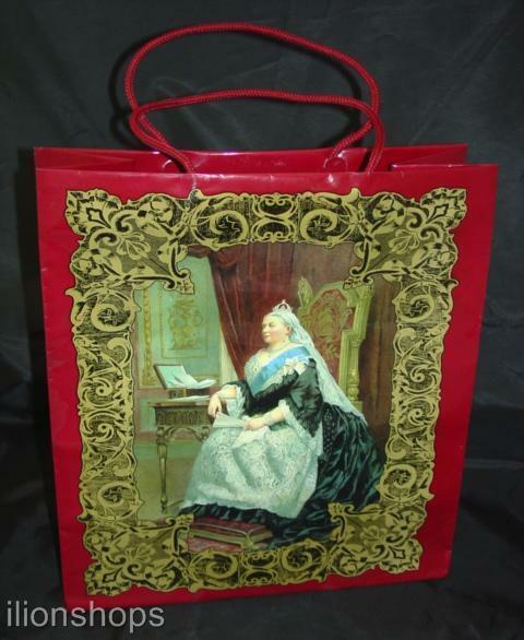 Queen Victoria Medium Gift Bag with Cord Handles Case Lot of 120