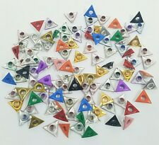 Scrapbooking Eyelets Lot of 100 Triangle 10 Clrs Embellishments Stamping Crafts