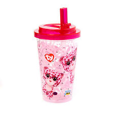 Ty Beanie Boo Glamour Pink Leopard Flip Top Water Bottle - FREE SHIPPING