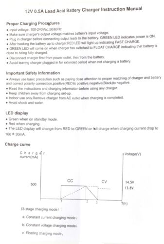 12V Volt Sealed Lead Acid SLA Battery Plug In Mains LED Trickle Charger