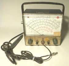 Vintage Rca Senior Voltohmyst Meter Model Wv 98a With Probe Working New Caps