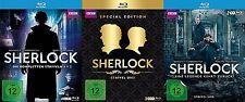 komplett SHERLOCK Cumberbatch / Freemann STAFFEL 1 2 3 4 HOLMES 9 BLU-RAY Box