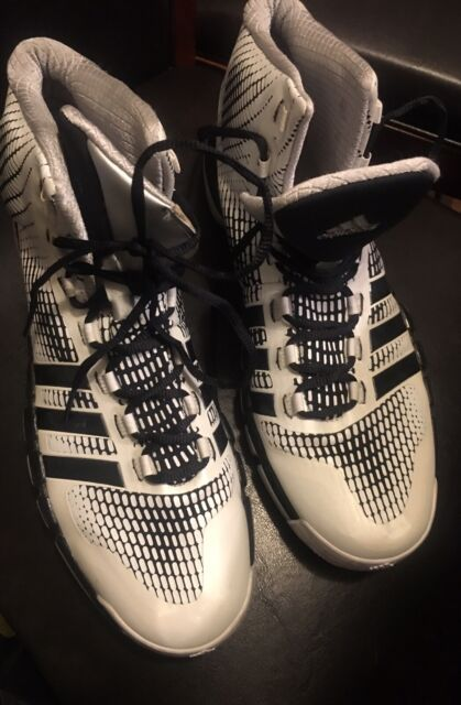 Adidas Adipure crazyquick Mens High Top Basketball Sneakers Shoes size 13 White
