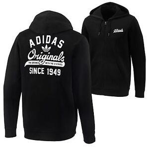 Adidas-Originals-Grafico-Crew-Chaqueta-Trebol-Sueter-Sudadera-negro