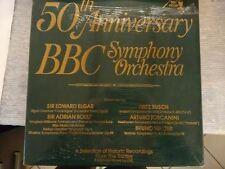 50th Anniversary BBC Symphony (4 LP) : Elgar, Boult, Busch, Toscanini & Walter