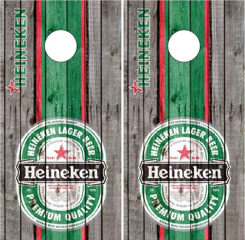Heineken Barnwood Cornhole WrapsVinyl Decals Board Decals Bag Toss Game